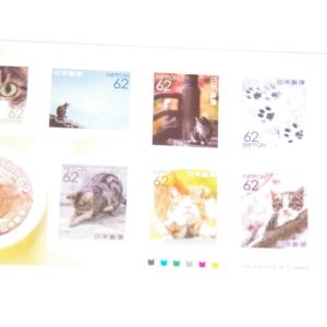 猫のシール式切手